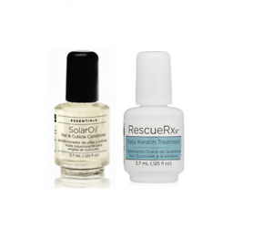 CND Rescue RXx DAILY KERATIN TREATMENT and  CND Solar Oil 3.7ml Bottle DUO