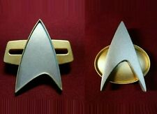 More details for star trek the next generation communicator pin combadge x 2