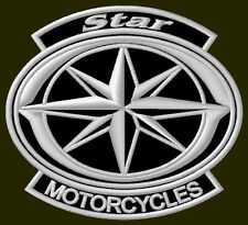 "YAMAHA STAR MOTORCYCLES EMBROIDERED PATCH ~4"" x 3-1/2"" BORDADO PARCHE AUFNÄHER"