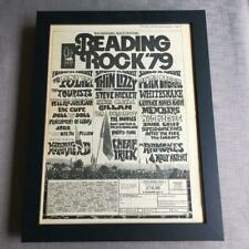More details for the cure police thin lizzy reading festival  1979  framed advert / ad  18