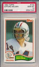 1982 Topps #100 Gifford Nielsen Dolphins PSA 10 Rookie RC