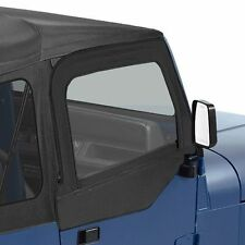 Bestop Soft Fabric Upper Doors 88-95 Jeep Wrangler YJ Black Denim 51780-15