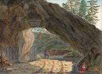 PIERRE PERTUIS JURA TAVANNES SWITZERLAND Painting - E CAMPBELL 1831 - GRAND TOUR
