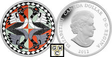 2012 'Two Loons' Colorized $1 Silver Coin 1oz .9999 Fine (13011) (NT)
