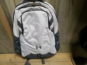 Under Armour Team Hustle Water Repellent Backpack White(1306060-100)New w/ Tags