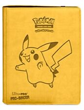 Pokemon Pikachu Ultra Pro Premium PRO Binder 9 Pocket Sideloading Card Storage