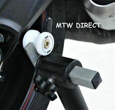 Honda CBR600RR 2006 R&G Racing WHITE  8mm Cotton Reels  Paddock Stand Bobbins
