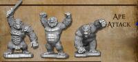 Reaper Miniatures Bones 4 Kickstarter - Ape Attack (3 Apes)