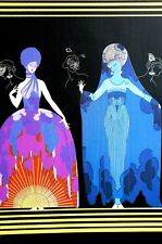 Erte 1987 EVENING NIGHT DRESS GOWNS COSTUMES from SERIES Matted Art Deco Print