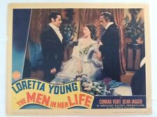 """Loretta Young in """"The Men in Her Life"""" 1941 with Conrad Veidt Dean Jagger"""