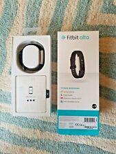 NIB NEW Fitbit Alta Fitness Tracker Large Wristband Black-New Open Box