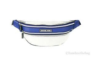 Michael Kors Sport Danika Leather and Mesh Waist Pack Crossbody Fanny Belt Bag