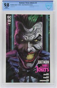 Batman Three Jokers (2020) #2 Joker Behind Bars CBCS 9.8 Blue Label White Pages