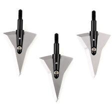 3pcs Hunting Broadheads Archery Arrowhead 128 Grain 2 Blades Crossbow Bow