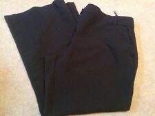 IMMACULATE PAIR LADIES BLACK BOOTCUT TU BUSINESS/WORK TROUSERS SIZE UK 20 SHORT
