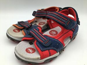 Ex-Display Superfit Strap Sandals Shoes Blue and Red Kids Size UK 12/EU 31