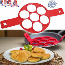 Non Stick Pancake Pan Flip Perfect Breakfast Maker Egg Omelette Flipjack TO_ES