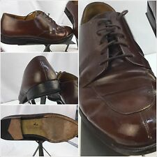 Cole Haan Oxford Shoes Sz 12 D Brown Leather Split Toe India EUC YGI M4U