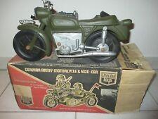 MOTO SIDE CAR CHERILEA MILITARY GERMAN ARMY GI JOE ACTION MAN WW2 VINTAGE