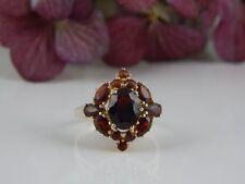 333 Gelbgold Granat Stein Ring