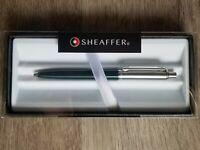 Sheaffer Sentinel Premium Ballpoint Pen, Green & Chrome w/ Gift Box, Nice Gift!!