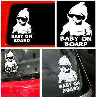 Hot Funny Cool Baby on Board Vinyl Car Sticker w/Sunglasses Decal Sign Window CI