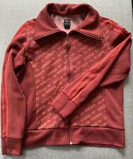Adidas womens Vintage Burgundy zip up track jacket Size L