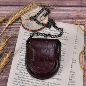 Pocket Watch Leather Case Storage Pouch With Chain Vintage Watches Travel Holder