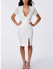 Ladies New  Lace Open Back Midi Dress In Ivory Size 14 UK