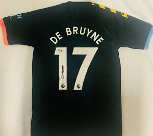 2019/20 Kevin De Bruyne Signed Manchester City Black Jersey Beckett Witnessed