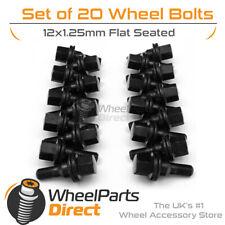 Black Original Style Wheel Bolts (20) 12x1.25 Flat For Citroen BX 84-94