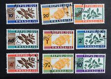 Rwanda #27-#35, Precancelled, NH, OG