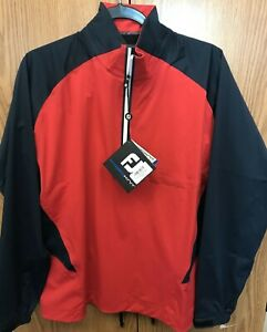 Brand New Men's Footjoy Hydroknit Waterproof Pullover 23781 Red/Navy