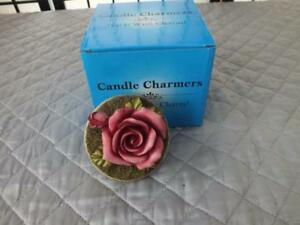 HARMONY BALL CO. CANDLE CHARMERS RED ROSE HAND-FINISHED JAR CANDLE STOPPER