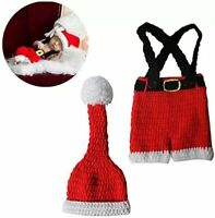 Baby Photography Costume Christmas Photo Shoot Props Knitted Hat Pants Costume