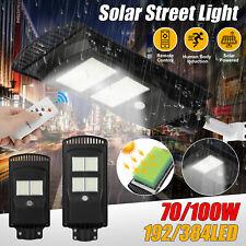 100W 20000LM Solar Street Light LED PIR Outdoor IP67 Dusk-to-Dawn Road Spotlight
