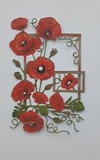 Die Cut Tattered Lace Precious Moments Poppy  Flower  Card Toppers Flower Scene