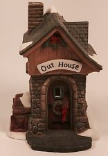 Christmas Village Owell Lighted Out House Building Accessory Display