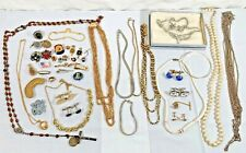Vintage Jewelry Junk Drawer Random Lot Necklaces Pins Cufflinks & more