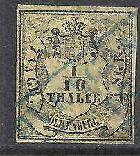 Oldenburg stamps 1852 MI 4  CANC  VF