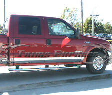99-10 Ford Super Duty/F-250 Crew Cab Short Bed Rocker Panel Trim Stainless Steel