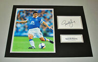 Gareth Barry Signed Photo 16x12 Everton Autograph Memorabilia Display + COA