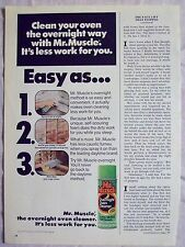1978 Magazine Advertisement Ad Page For Mr. Muscle Overnight Oven Cleaner Can Ad