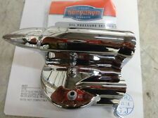HARLEY 2000-2014 SOFTAIL CHROME OIL PRESSURE SENDING UNIT COVER KURYAKYN