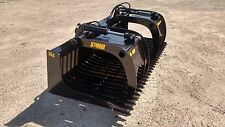 """New 66"""" skeleton rock bucket with grapple Open sides design, Skid Steer, Tractor"""