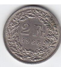 2 Schweizer Franken 1968  Münze  sehr schön Best.-Nr. 3