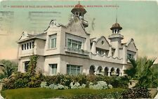 DB Postcard CA D230 Residence Paul De Longpre Famous Flower Painter Hollywood