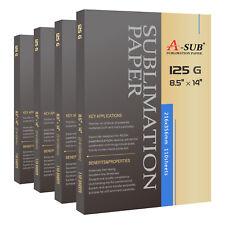 "A-SUB 440 Sheets 8.5x14"" Dye Sublimation Heat Transfer Paper Cotton Mugs Poly"