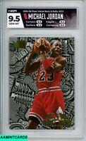 1995 FLEER METAL Michael Jordan #212 NUTS & BOLTS CHICAGO BULLS HGA 9.5 GEM MT