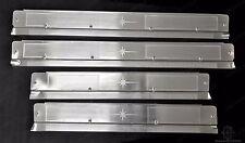 NEW 1958-60 Lincoln Premiere 4-Door Scuff Sill Plates Aluminum (4) as Original